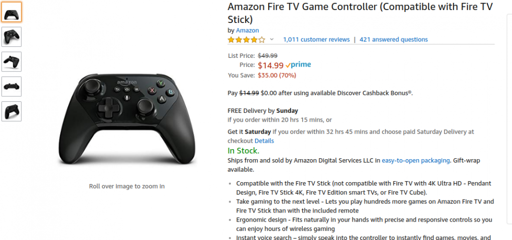 Amazon Game Controller is only compatible with Some Fire Sticks